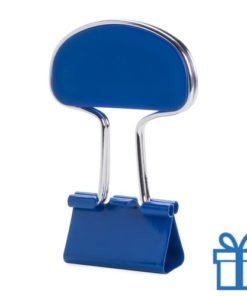 Notitieclip gekleurd blauw bedrukken