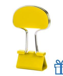 Notitieclip gekleurd geel bedrukken