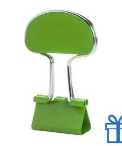 Notitieclip gekleurd groen bedrukken