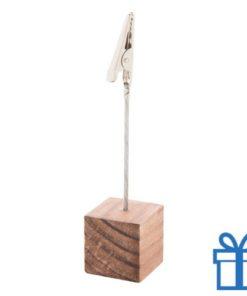 Notitieclip metaal bruin bedrukken