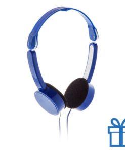 Opvouwbare hoofdtelefoon goedkoop blauw bedrukken