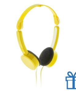 Opvouwbare hoofdtelefoon goedkoop geel bedrukken