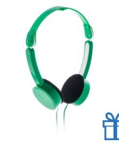 Opvouwbare hoofdtelefoon goedkoop groen bedrukken