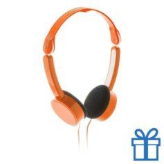 Opvouwbare hoofdtelefoon goedkoop oranje bedrukken