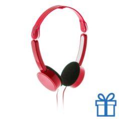 Opvouwbare hoofdtelefoon goedkoop rood bedrukken
