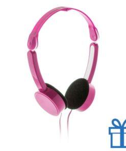 Opvouwbare hoofdtelefoon goedkoop roze bedrukken