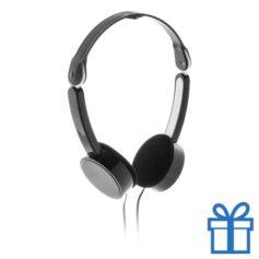Opvouwbare hoofdtelefoon goedkoop zwart bedrukken