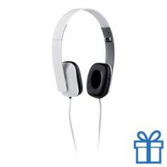 Opvouwbare plastic hoofdtelefoon wit bedrukken
