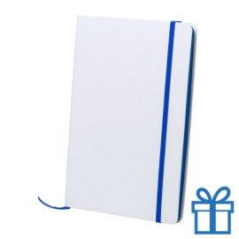 Papieren notitieboekje A5 gekleurd blauw bedrukken