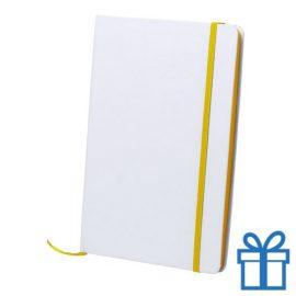 Papieren notitieboekje A5 gekleurd geel bedrukken