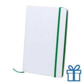 Papieren notitieboekje A5 gekleurd groen bedrukken