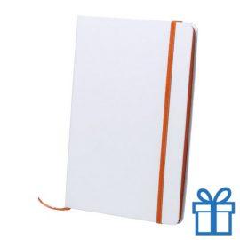 Papieren notitieboekje A5 gekleurd oranje bedrukken