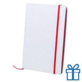 Papieren notitieboekje A5 gekleurd rood bedrukken