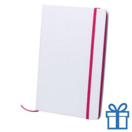 Papieren notitieboekje A5 gekleurd roze bedrukken