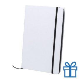Papieren notitieboekje A5 gekleurd zwart bedrukken