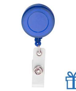 Pashouder skipas drukknoop blauw bedrukken