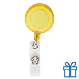 Pashouder skipas drukknoop geel bedrukken