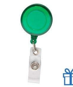 Pashouder skipas drukknoop groen bedrukken