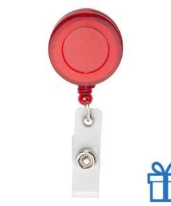 Pashouder skipas drukknoop rood bedrukken