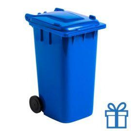 Penhouder minicontainer blauw bedrukken