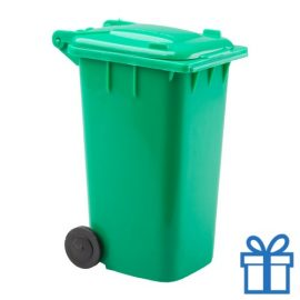 Penhouder minicontainer groen bedrukken