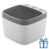 Pennenhouder USB hub 3 poorten grijs bedrukken