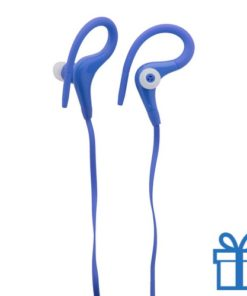 Plastic oordopjes goedkoop blauw bedrukken