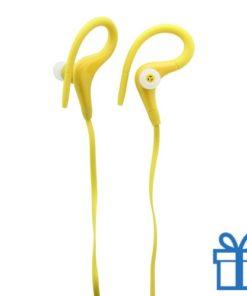 Plastic oordopjes goedkoop geel bedrukken