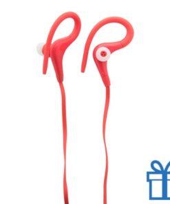 Plastic oordopjes goedkoop rood bedrukken