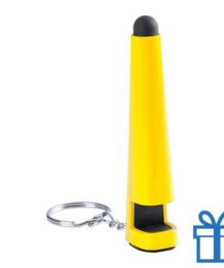 Plastic styluspen geel bedrukken