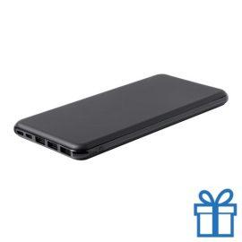 Power bank 20000 mAh draadloze oplader USB type C zwart bedrukken