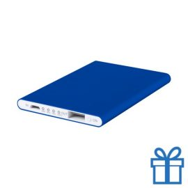 Power bank 2200 mAh plat blauw bedrukken