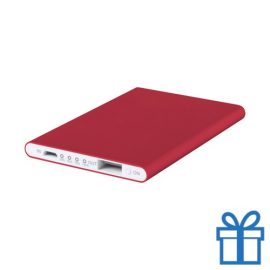 Power bank 2200 mAh plat rood bedrukken