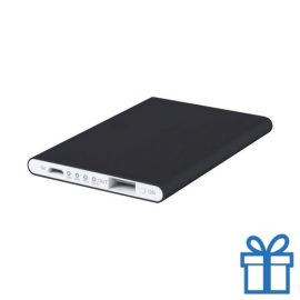 Power bank 2200 mAh plat zwart bedrukken