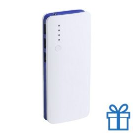 Powerbank 10000 mAh 3 USB poorten blauw bedrukken