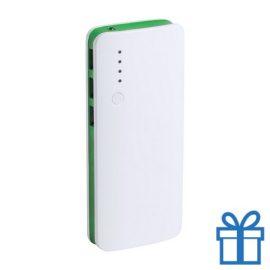 Powerbank 10000 mAh 3 USB poorten groen bedrukken