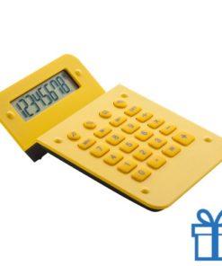 Rekenmachine goedkoop display geel bedrukken