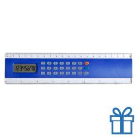 Rekenmachine liniaal 20cm lang goedkoop blauw bedrukken