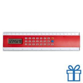 Rekenmachine liniaal 20cm lang goedkoop rood bedrukken