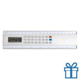 Rekenmachine liniaal 20cm lang goedkoop wit bedrukken