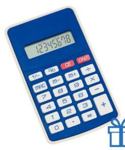 Rekenmachine witte knopjes blauw bedrukken