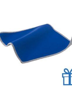 Scherm cleaner doekje blauw bedrukken
