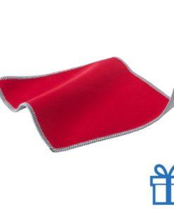 Scherm cleaner doekje rood bedrukken