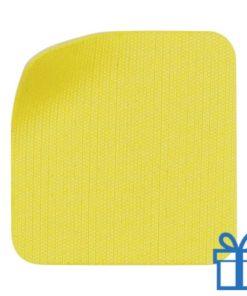 Scherm cleaner zelfklevend microvezel geel bedrukken