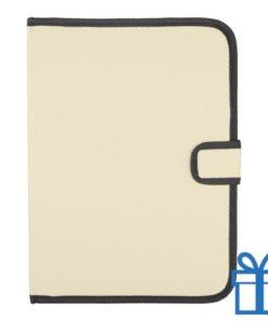 Schrijfmap A4 600D polyester notitieblok naturel bedrukken