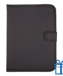 Schrijfmap A4 600D polyester notitieblok zwart bedrukken