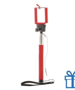 Selfie stick ontspanknop rood bedrukken