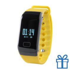 Smart watch 0,66 inch OLED geel bedrukken