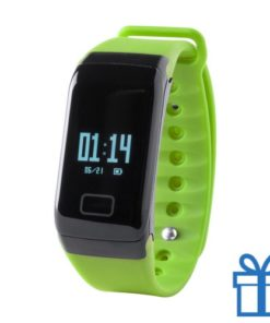 Smart watch 0,66 inch OLED lime bedrukken