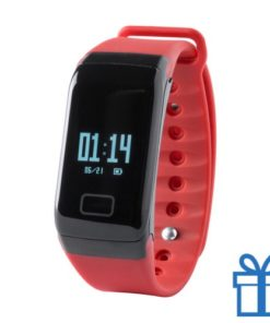 Smart watch 0,66 inch OLED rood bedrukken